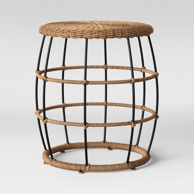 southport patio end table black brown opalhouse