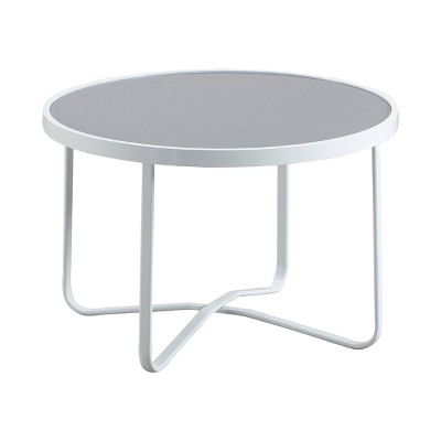 mirabelle outdoor coffee table white adore decor