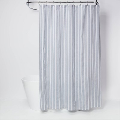 dyed shower curtain blue threshold