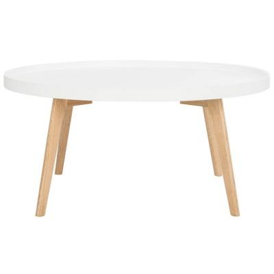 sage round coffee table white oak safavieh