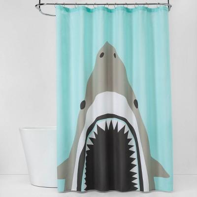 shark bite shower curtain pillowfort