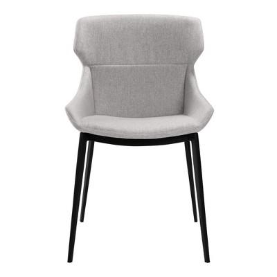 set of 2 kenna modern dining chair gray armen living