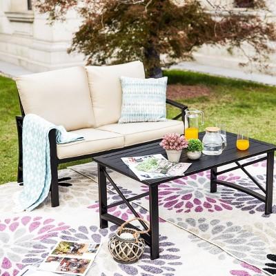 3pc loveseat patio seating set patio festival