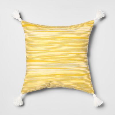 2 gray stripe pillow covers farmhouse