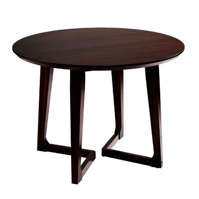 meckland small space dining table dark walnut holly martin