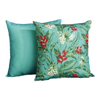 lakeside exotic outdoor chair cushions set for seats 2 pieces tahiti blue