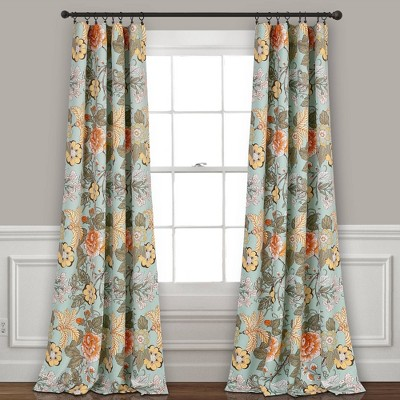set of 2 84 x52 sydney room darkening window curtain panels blue green lush decor