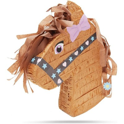 Horse Pinata For Farm Animal Wild West Pony Cowboy Themed Kids Girls Birthday Party Supplies And Decorations Small 16 X 12 Inches Target