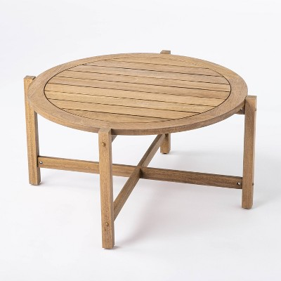bluffdale wood patio coffee table threshold designed with studio mcgee