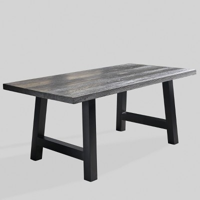 lido concrete rectangle patio dining table gray christopher knight home