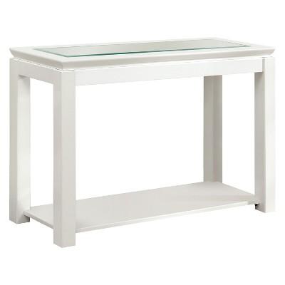 tellma high gloss glass top sofa table white mibasics