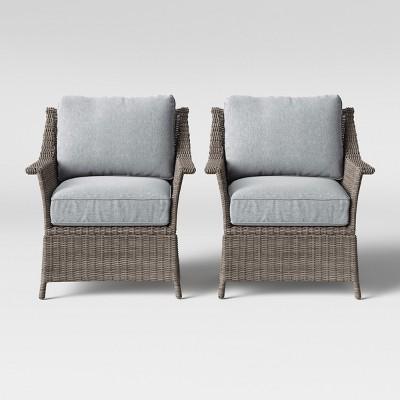 foxborough 2pk patio club chair gray threshold