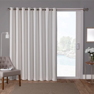 sateen blackout solid grommet top extra wide curtain panel exclusive home