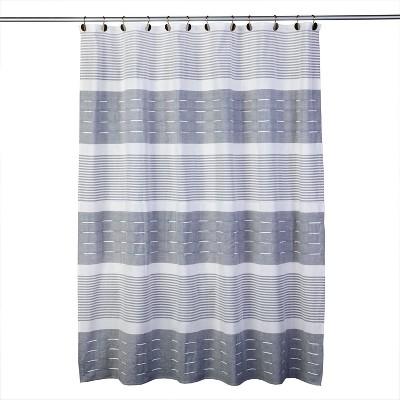 navy stripe shower curtain target