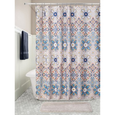 blue tan shower curtains target