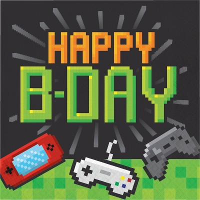 48ct Video Game Birthday Napkins Target