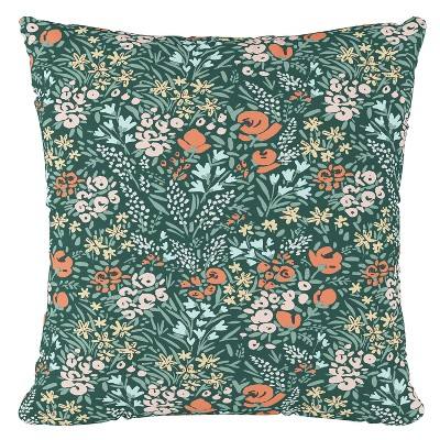 green floral throw pillow skyline furniture