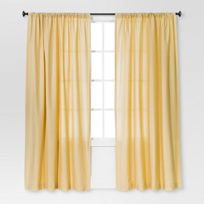 84 x54 farrah light filtering curtain panel yellow threshold