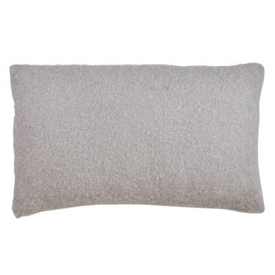 14 x23 faux mohair poly filled lumbar throw pillow gray saro lifestyle