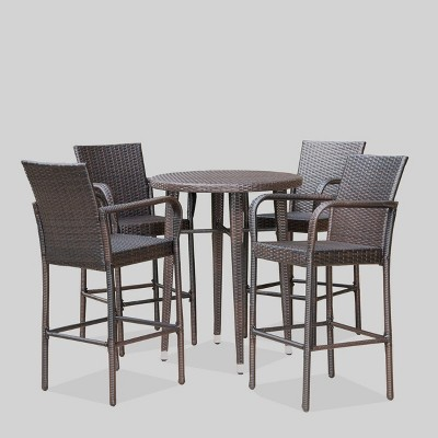patio high top dining sets wicker