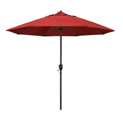 9 aluminum auto tilt crank lift patio umbrella red