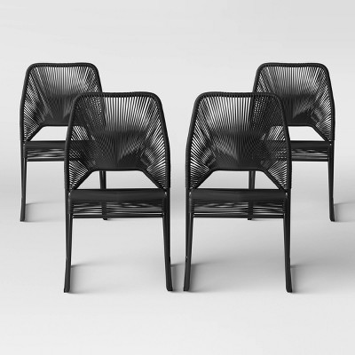 fisher 4pk patio dining chair black project 62