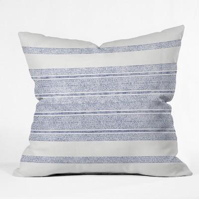 holli zollinger capri stripes square throw pillow blue deny designs