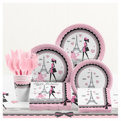 Party In Paris Birthday Party Supplies Kit Target