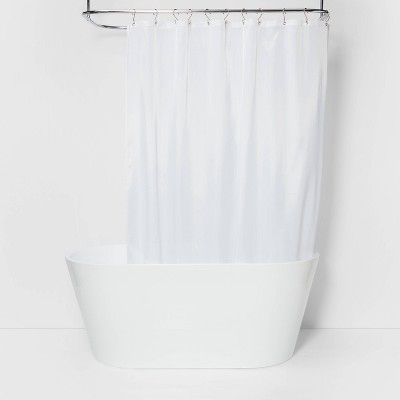 fabric medium weight shower liner white made by design