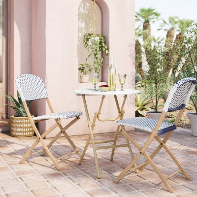 french bistro folding patio set