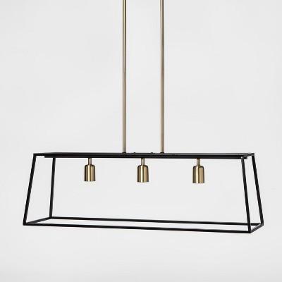 3 light pendant modern farmhouse ceiling light black threshold