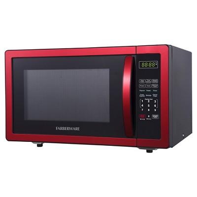 farberware 1 1 cu ft 1000 watt microwave oven red