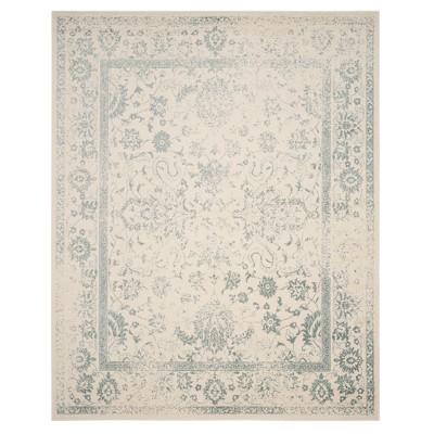 ivory slate medallion loomed area rug 8 x10 safavieh