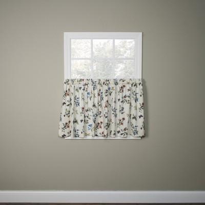 ellis curtain audrey design printed room darkening 2 piece window rod pocket pair 68 x 36 multicolored
