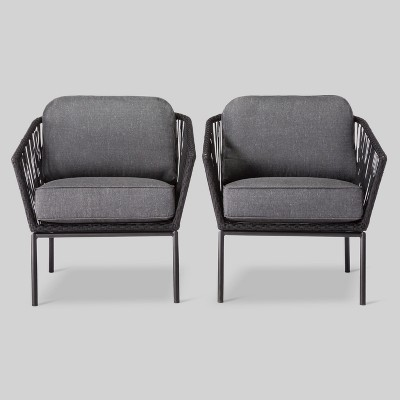 standish 2pk patio club chair black gray project 62