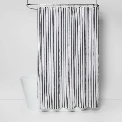 stripe shower curtain black white project 62