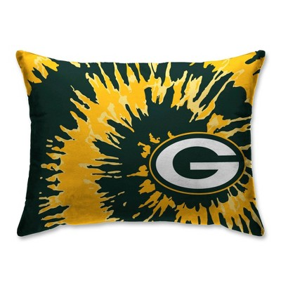 nfl green bay packers tie dye plush bed pillow