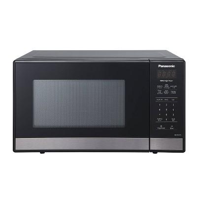 panasonic 9 cuft black stainless steel microwave nn sb438