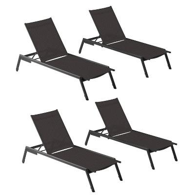 4pk eiland armless chaise lounge black oxford garden