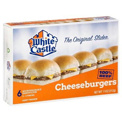 white castle microwaveable frozen cheeseburgers 6pk