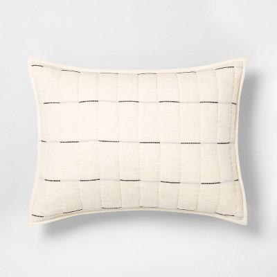 standard broken stripe pillow sham railroad gray hearth hand with magnolia