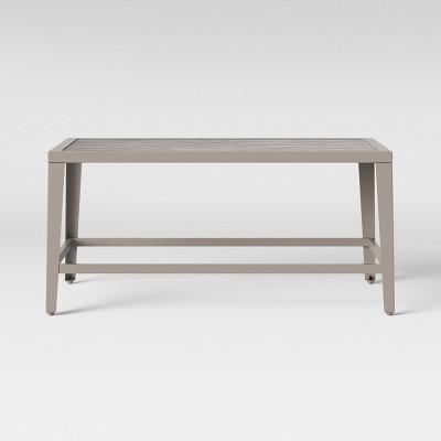 foxborough patio coffee table gray threshold