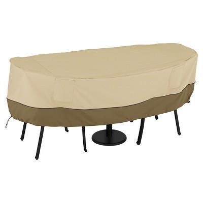 veranda bistro round patio table and 2 chairs cover light pebble classic accessories