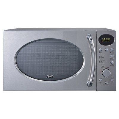 oster 0 7 cu ft 700 watt microwave oven stainless steel oghs0703