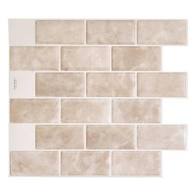 smart tiles 3d peel and stick backsplash 4 sheets of 10 95 x 9 70 kitchen and bathroom wallpaper subway sora