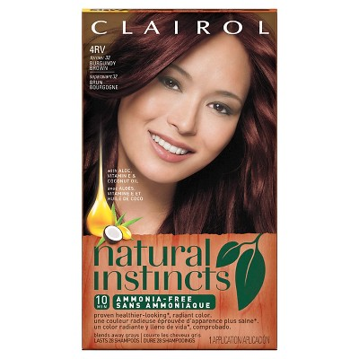 Natural Instincts Clairol Non Permanent Hair Color 4RV