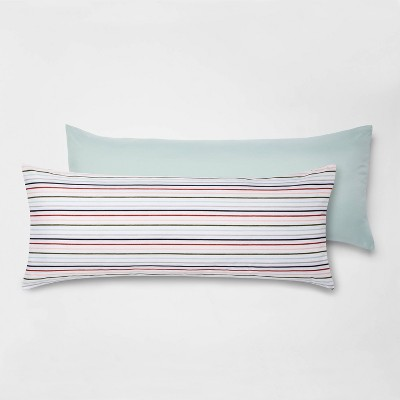 2pk printed pattern body pillow cover multi stripe room essentials