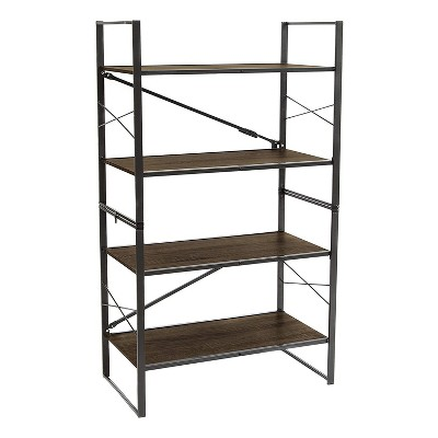 origami adjustable 2 in 1 organizing storage rack multi tier utility shelving unit for bedroom laundry room and kitchen espresso