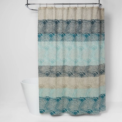 dot scallop shower curtain cool threshold