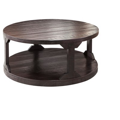 rogness coffee table rustic brown signature design by ashley
